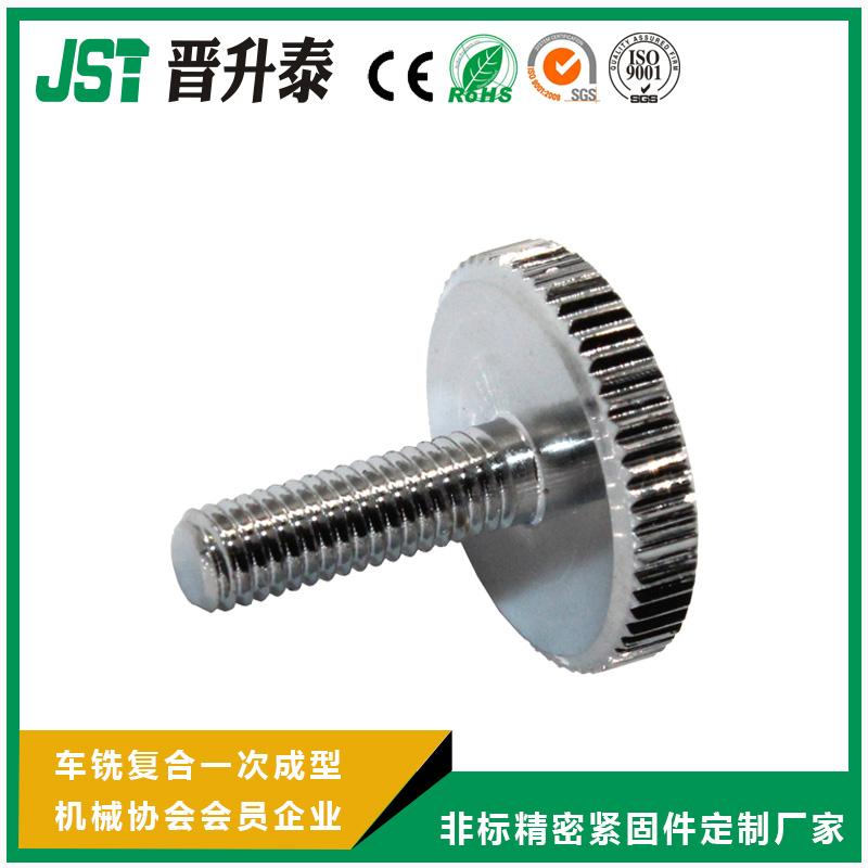 压纹旋钮-标准外螺纹-不锈钢